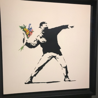 "Banksy's ""Flower Thrower"""