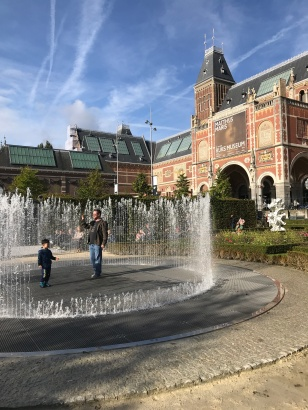 Fountain that splashed me outside the Rijksmuseum
