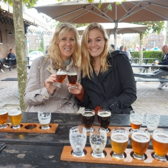 Mom and I trying flights of beer