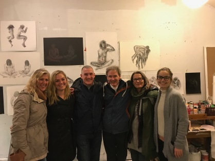 Mom, Me, Dad, Mike, Greta, and Jacoba in her art studio