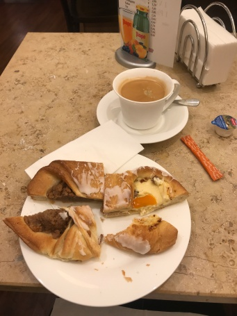 Nut Pastry and coffee