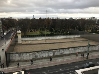 "View into ""No Man's Land"" from West Berlin side"